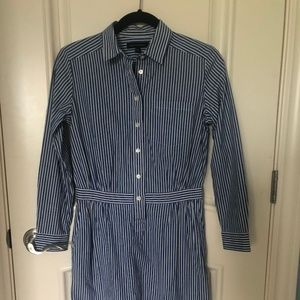 Banana Republic Petite Striped Shirtdress